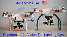 Black Tall Extended Landing Gear for DJI Phantom 1 2 Vision Wide and High