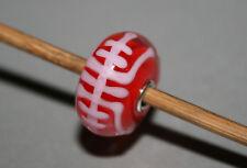 Original Trollbeads -  Red Longevity - Giant Jumbo Unique Bead - OOAK