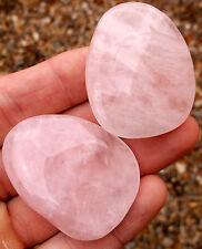 1 x Polished Rose Quartz Crystal Palmstone. Ref:T.RQP Minerals Crystals