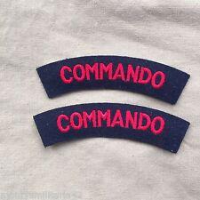 Excellent WW2 British Army / Marines Commando Cloth Battledress Shoulder Titles