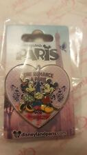 Disneyland Paris Park Trading Pin Minnie & Mickey Mouse Paris Heart