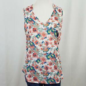 Lush Women's Blouse Sleeveless Floral Size XL