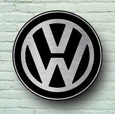 VOLKSWAGEN LARGE 2FT GARAGE WALL SIGN PICTURE VW LOGO VEE DUB CAMPER GOLF GTI
