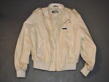 Member'S Only White Jacket 42 Vintage Members Classic Coat Men'S Zipper Pockets