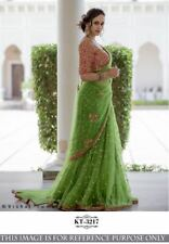 Bright Color Georgette Embroidery Work Style Sari Indian Party Wear Saree