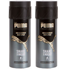 2 x Puma 48H Deodorant Spray Body Spray Shake the Night 150 Ml New