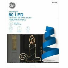 Ge 1.5 Ft Pre-Lit StayBright 80 Led Tape Light Hanging Candle - New
