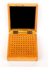 Astuccio scatola legno  porta frese punte da trapano 100 fori
