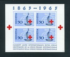 SWITZERLAND 1963 International Red Cross Centenary Miniature sheet SG MS675a  MH