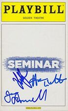 Seminar signed Playbill lily rabe jerry o'connell hammish linklater