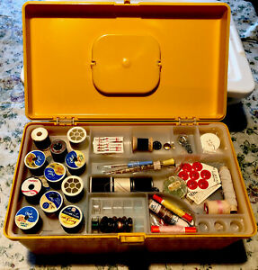 Wilson Wil-Hold Sewing Box Case Pull Our Tray Bobbins Spools Notions Crafts