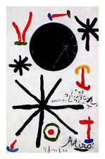 Joan Miro Soleil de Majorque Poster Kunstdruck Bild 75x50cm - Portofrei