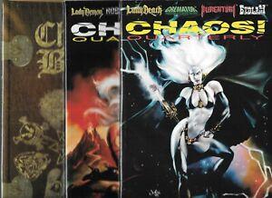 CHAOS QUARTERLY LOT OF 2 - #1 #2 & CHAOS BIBLE (NM) LADY DEATH, EVIL ERNIE