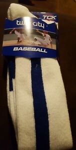 Twin City Baseball/Softball Stirrup Sock  R12 Mens 9-12, Ladies 10-13 Blue