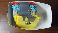 Lot of 25 FUJIFILM 2HD MAC Formatted 3.5 Floppy Disks Formatted Rainbow 1.40 MB