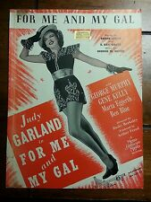 """For Me and My Gal"" Vintage Sheet Music starriing Judy Garland (on Cover)"