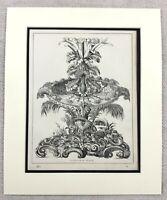 1859 Print Victorian Table Centerpiece Rare Pineapple Stand Original Antique