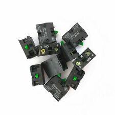 10pcs ZB2-BE101C/XB2-BE101C NO Pushbutton Joystick Switch Contact Block 10A 600V