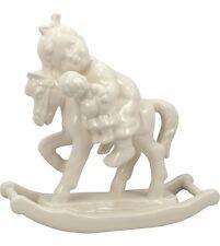 Hummel Giddy-Up 2303 White Ware Glazed NIB Girl on Rocking Horse NEW IN BOX