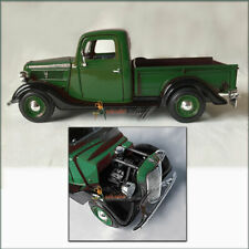 1937 Ford Pickup Truck COLOR - Black & GREEN 1/24 Scale Diecast Showcast UNBOXED