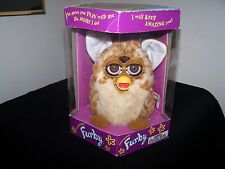 Vintage 1998 Original 1st Generation Furby Spotted Tan, Brown Eyes (new in seale