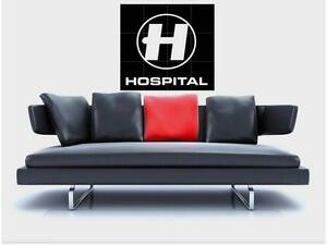"""HOSPITAL RECORDS BORDERLESS MOSAIC TILE WALL POSTER 35"""" x 33"""" DRUM AND BASS"""