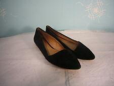 Madewell Black Suede Flats- Angled toe style - Size 7M - EUC! stylish unique