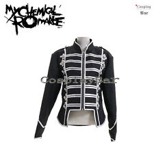 My Chemical Romance Black Parade Silver Black Military Jacket Cosplay Costume