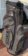 Ogio Silencer Cart Bag golf 15 way top Gray Red Black