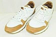 Reebok mens athletic shoe size 10.5 M leather upper white & brown classic style
