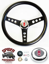 "69-92 Cutlass 442 Omega F85 Toronado steering wheel CLASSIC BLACK 13 1/2"" Grant"