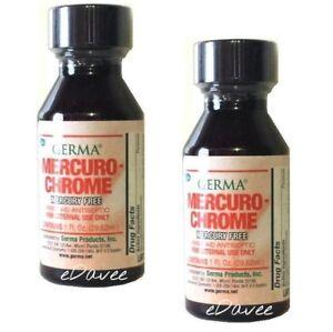 MercuroChrome Safe Antiseptic 1 oz. MercurioCromo 2-PACK