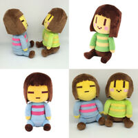 "Undertale Frisk and Chara Plush Doll Stuffed Toy 8"" Set Kids Birthday Gift"
