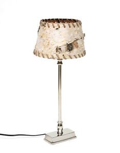Table Lamp Night From Berch Tree Bark Table Desk Lamp for The Window Bench
