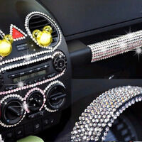 3mm Bling Crystal Rhinestone DIY Car Styling Sticker Decor Decal Accessories