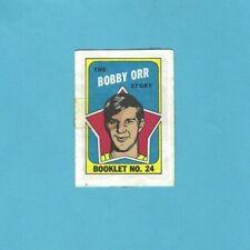 1971-72 Topps Booklet #24 Bobby Orr Boston Bruins Hockey