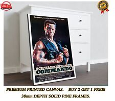 More details for commando arnold classic movie art large canvas print gift a0 a1 a2 a3 a4