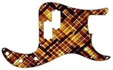 P Bass Precision Pickguard Custom Fender 13 Hole Guitar Pick Guard Amber Bamboo