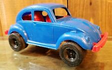 "Vintage Strombecker 6"" VW Volkswagen Sedan Beatle Vinyl Plastic Made in USA"