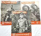 PICTURE POST Mag X3,1941/43/44,WW2 Covers,TIMOSHENKO,FINLAND,DESPATCH RIDER