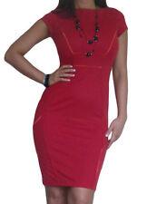 Vestiti da donna rosso business con girocollo