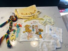 New ListingVintage Baby Bag: Curity Cloth Diapers, 1974 Gerber Bag, Hand Made Clown, Rattle