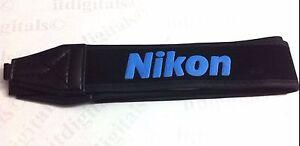 "Nikon Wide Camera Strap 1.5"" Blue For D40 D50 D60 D70 D80 D90 D100 D5000 Camera"