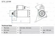 Bosch 0986020780 Starter Motor 2078 12 V 1 kW Output