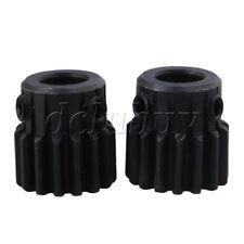 2pcs 8mm Hole Diameter Motor Metal Steel Gear Wheel Top Screws 15 Teeth Tooth