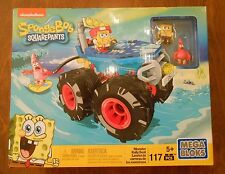 NEW MEGA BLOKS MONSTER RALLY BOAT SPONGEBOB SQUAREPANTS MINI FIGURES RARE HARD
