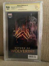 Return of Wolverine #5 signed Adam Kubert variant Signature Series CBCS like CGC