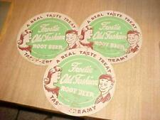 3 Vintage Frostie Frosty Old Fashion Root Beer Soda 2 Sided Fan Spinner Sign