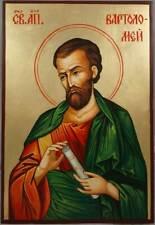 Saint St Bartholomew the Apostle Hand-Painted Byzantine Orthodox Icon Wood 35cm