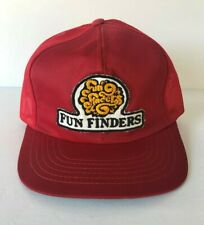 Rare Vintage Fun Finders Tour Trucker Hat Mesh Cap Patch Snapback Red Young An